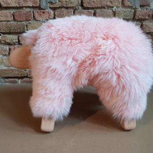 LargeSchaf Farbe rosa- Sitzhocker, Schemel, Fußhocker, Kuscheltier 106917